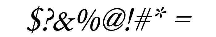 Garamond Italic Font OTHER CHARS