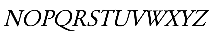 Garamond Italic Font UPPERCASE