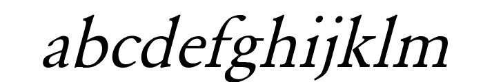 Garamond Italic Font LOWERCASE