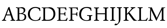 Garamond Regular Font UPPERCASE