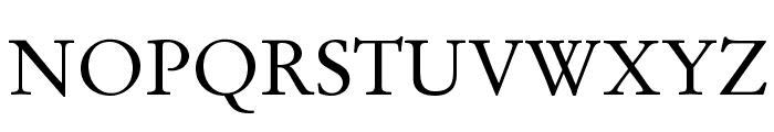 GaramondLatin-Roman Font UPPERCASE