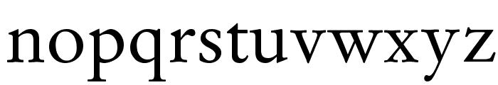 GaramondLatin-Roman Font LOWERCASE