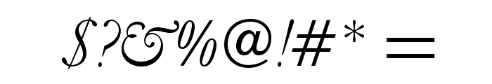 GaramondLudlowOpti-Italic Font OTHER CHARS