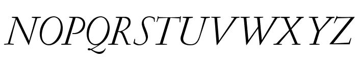 GaramondLudlowOpti-Italic Font UPPERCASE