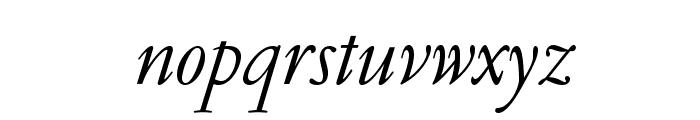 GaramondLudlowOpti-Italic Font LOWERCASE