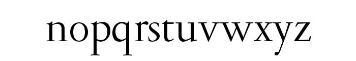GaramondLudlowOpti-Roman Font LOWERCASE
