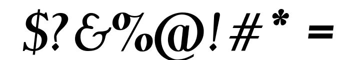 Garava Bold Italic Font OTHER CHARS