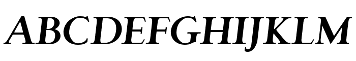 Garava Bold Italic Font UPPERCASE