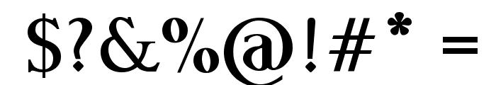 Garava Bold Font OTHER CHARS