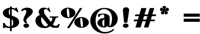 Garava Heavy Font OTHER CHARS
