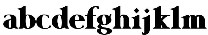 Garava Heavy Font LOWERCASE