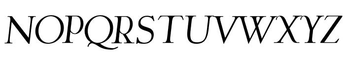 Garava Italic Font UPPERCASE