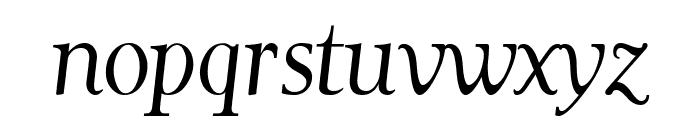 Garava Italic Font LOWERCASE