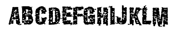 GarbageG Font UPPERCASE