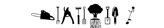 Garden Icons Font OTHER CHARS