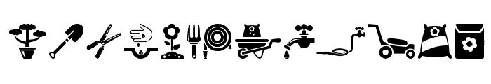 Garden Icons Font UPPERCASE