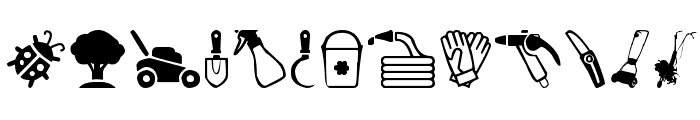 Garden Icons Font LOWERCASE