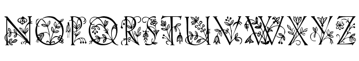 GardenDisplayCaps Font UPPERCASE