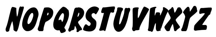 GargleCdRg-BoldItalic Font UPPERCASE