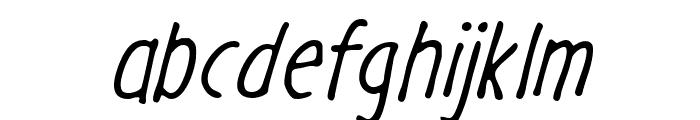 GargleCdRg-Italic Font LOWERCASE