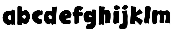 GargleExRg-Bold Font LOWERCASE