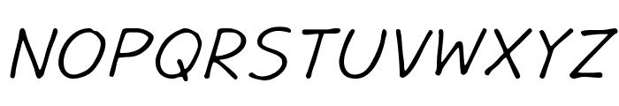 GargleExRg-Italic Font UPPERCASE