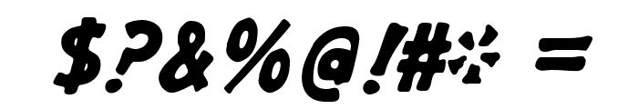 GargleRg-BoldItalic Font OTHER CHARS