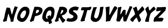 GargleRg-BoldItalic Font UPPERCASE