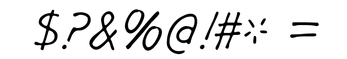 GargleRg-Italic Font OTHER CHARS
