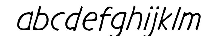 GargleRg-Italic Font LOWERCASE