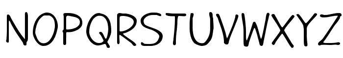 GargleRg-Regular Font UPPERCASE