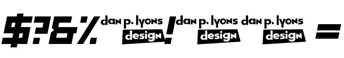 GarintySkew Font OTHER CHARS
