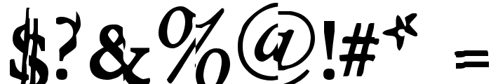 GarishMonde Font OTHER CHARS