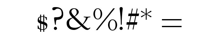 Garogier Regular Font OTHER CHARS