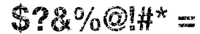 Gastada Font OTHER CHARS