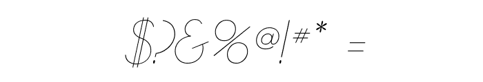 GatsbyFLF-Italic Font OTHER CHARS
