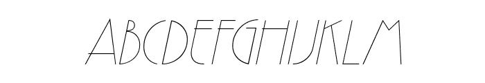 GatsbyFLF-Italic Font UPPERCASE
