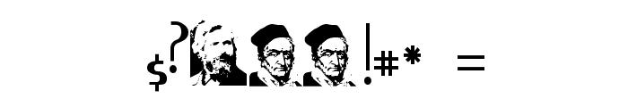 Gauss Jordan Font OTHER CHARS