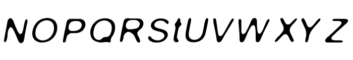 Gaussian-Blur-Italic Font UPPERCASE