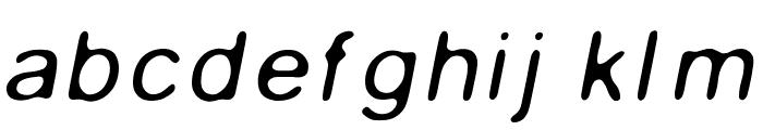 Gaussian-Blur-Italic Font LOWERCASE