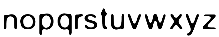 Gaussian-Blur Font LOWERCASE