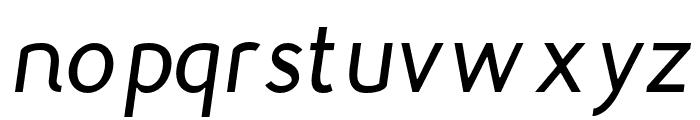 Gautama-Italic Font LOWERCASE