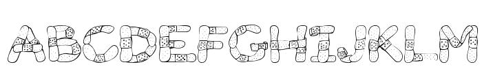 Gauze Strips Font UPPERCASE