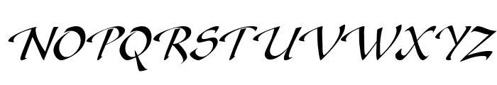 Gaze Italic Font UPPERCASE