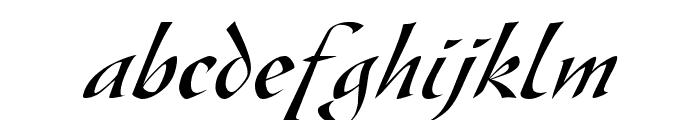 Gaze Italic Font LOWERCASE
