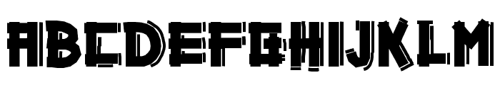 Gazoline Font UPPERCASE