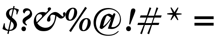 Gallery Bold Italic Font OTHER CHARS