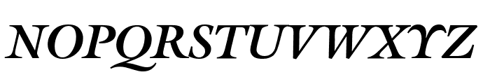 Gallery Bold Italic Font UPPERCASE