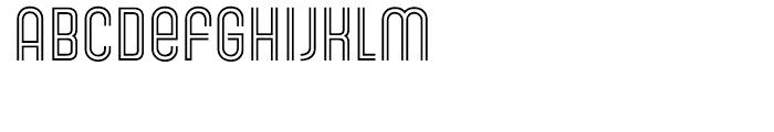 Gala Biline Font LOWERCASE