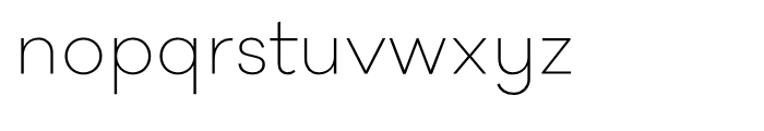 Galano Classic Alt ExtraLight Font LOWERCASE